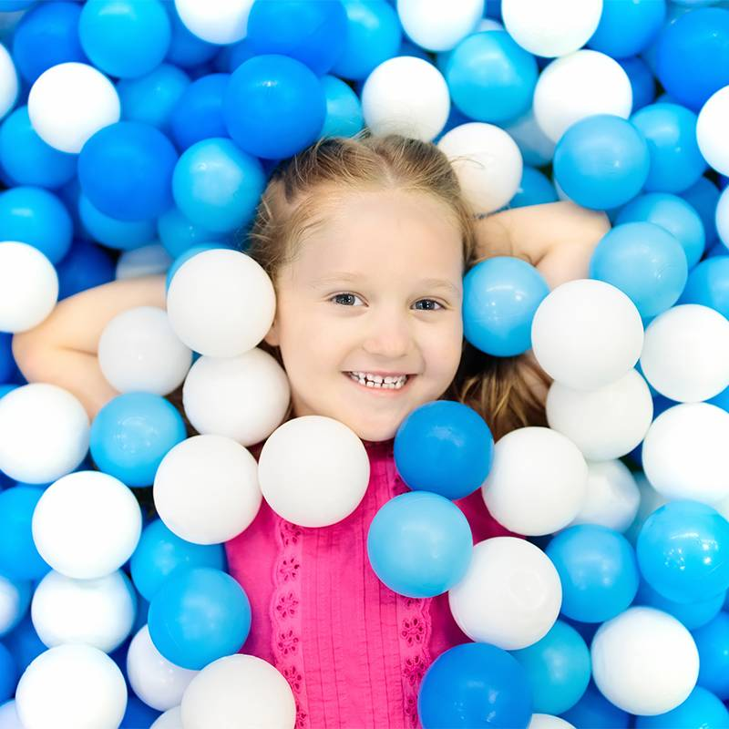 Child,Playing,In,Ball,Pit.,Colorful,Toys,For,Kids.,Kindergarten